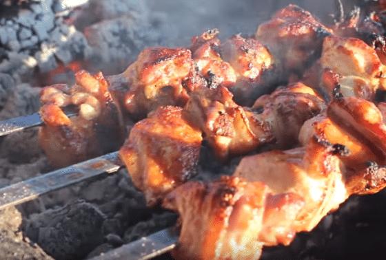 куриное мясо мангал