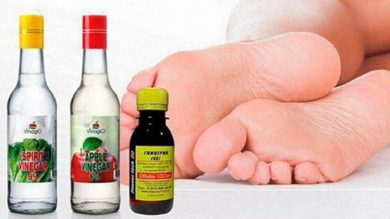 глицерин и уксус для пяток